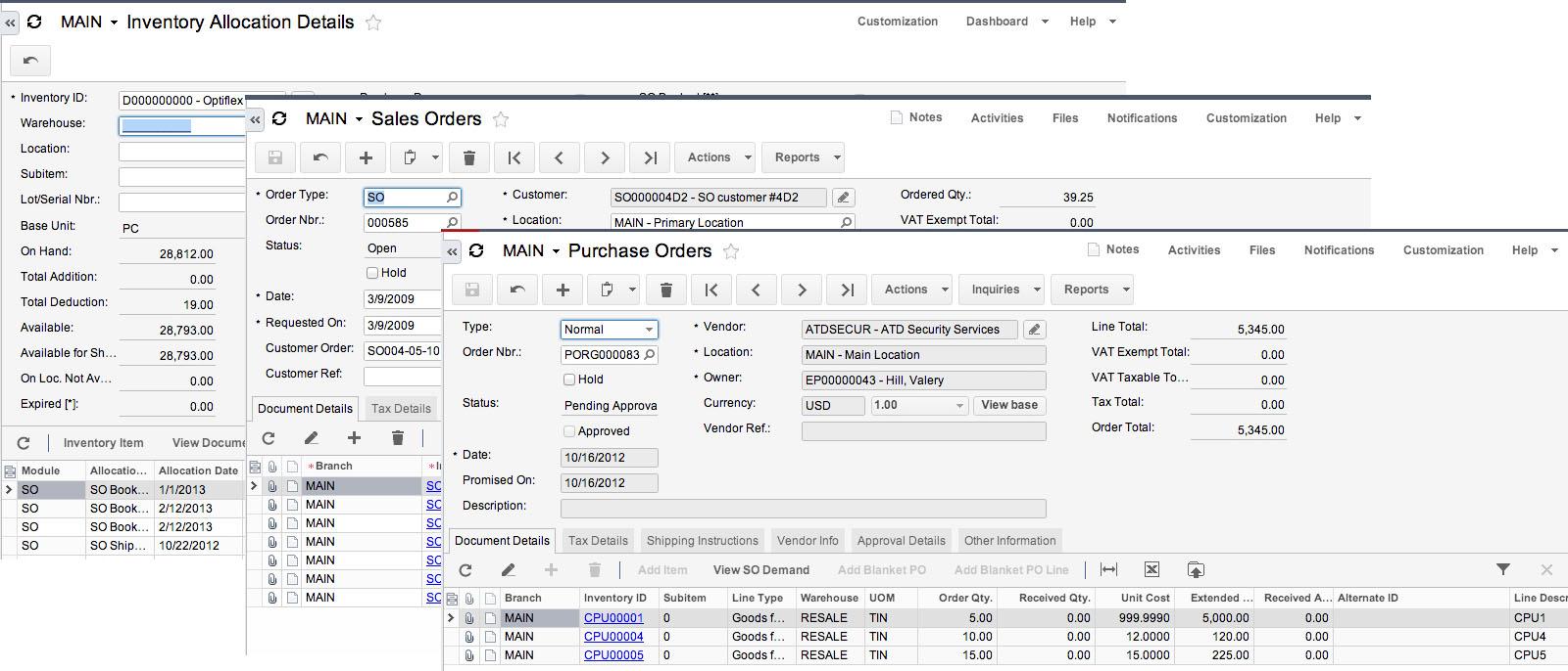 Acumatica Cloud ERP Products - Distribution Management Suite