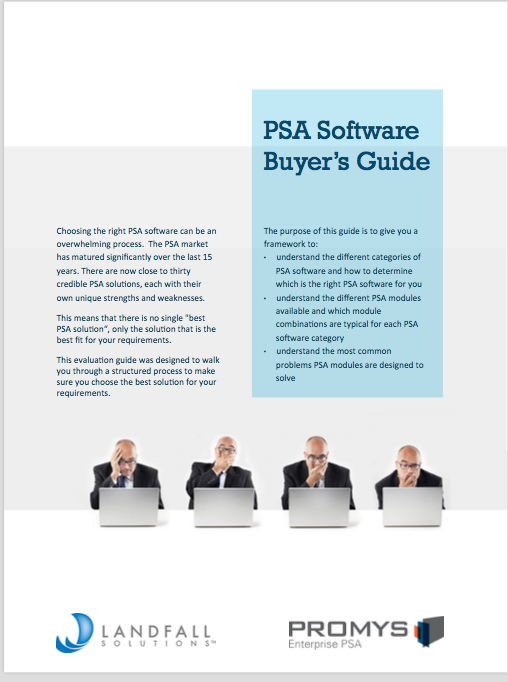 PSA Software Buyers Guide White Paper